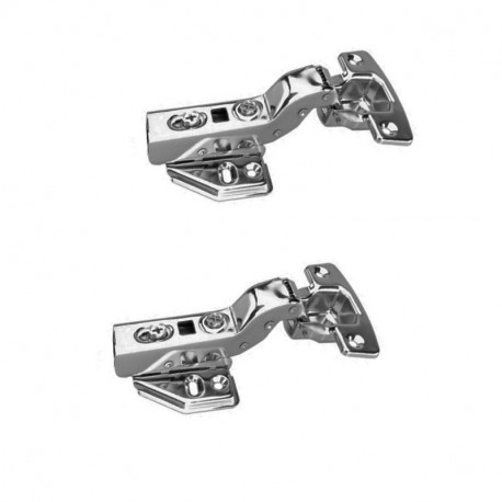 FYTRONDY Inset stainless steel Soft Slow Close Kitchen Cabinet Door Hinges,ONE Pair (2 PCS ) in pack