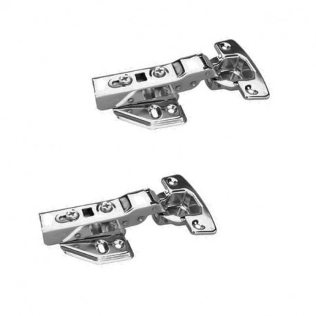 FYTRONDY Half Overlay stainless steel Soft Slow Close Kitchen Cabinet Door Hinges,ONE Pair (2 PCS) in pack